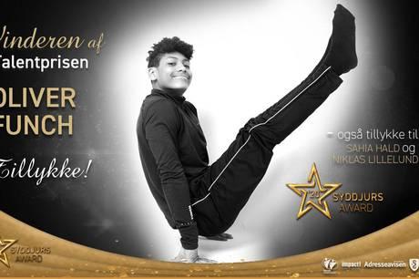 Unge Oliver Funch modtog sidste år en bid af Talentprisen, som PR electronics A/S og Adresseavisen uddeler i fællesskab. Hvem skal have den i 2021?. Foto m.m. Anne Steen, Impact