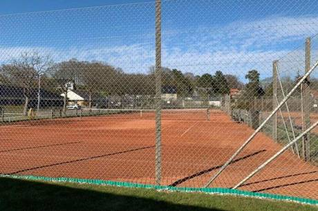 Tennisanlægget i Gordonhaven i Hadsten.