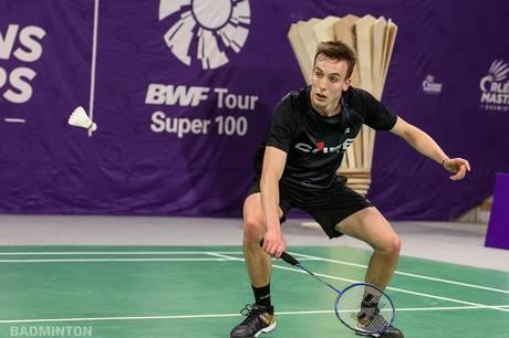 Når Martin Bundgaard ikke står her på badmintonbanen, så studerer han idrætsvidenskab på Aarus Universitet. Foto: Badminton Photo
