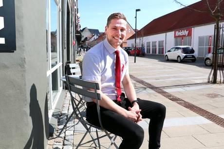 """""""Nu nu skal vi have fuld knald på den lokale handlen,"""" siger varehuschef i Kvickly Hadsten Mads Sørensen. Foto: CSJ"""