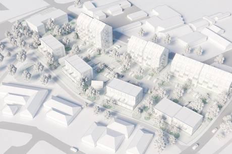 Sådan ser planerne for et ønsket byggeri på Brunhøjvej 8 i Ry ud i skitseform. Skitse: AART Architects
