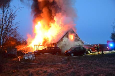 Brand i hus på Højskolevej i Torup ved Ulstrup.