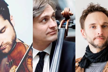 Trio Ondine består af Bogdan Bozovic på violin, Jonathan Slaatto på cello og Martin Qvist Hansen på klaver. Pressefoto