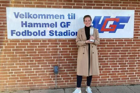 Christina Schnoor er kåret som 'Årets Fodbold HGF'er 2021'.