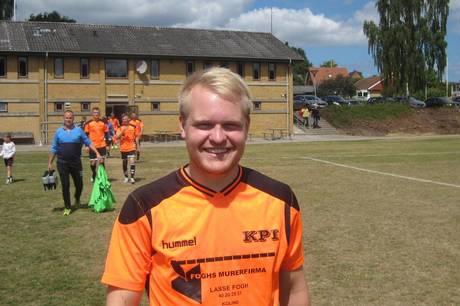 Kolind-Perstrup IF's hurtigløber Martin Holm Hansen scorede de to mål til uafgjort 2-2 i lokalopgøret mod TRIF. Arkivfoto: Martin Schultz