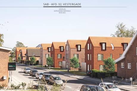 Sådan kunne det have set ud på Vestergade 49, 55, 57 og 59 i Skanderborg, men Økonomiudvalget har sagt nej til, at Skanderborg Andelsboligforening må rive fire slidte huse ned.