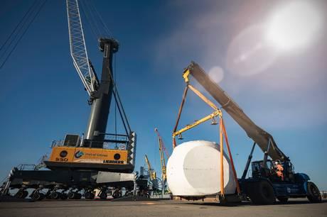 Den grønne energi vinder frem på havnen.  Havnens nye investering på 25 millioner kroner er seneste eksempel.