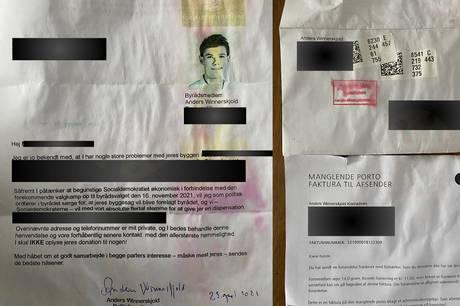 Socialdemokrat Anders Winnerskjold har oplevet et meget forunderligt angreb på sin person, som han selv modtog i sin postkasse. Aarhus Kommune har anmeldt sagen til politiet.