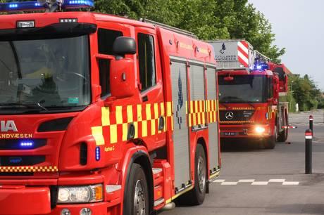 Brand lørdag på pelejecenter i Galten. Arkivfoto: Øxenholt Foto.