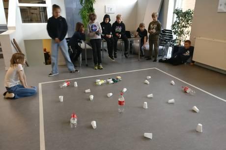 Efter at have forberedt sig gennem et par uger var eleverne i 5. A og deres lærer på Skanderborg Realskole helt klar.