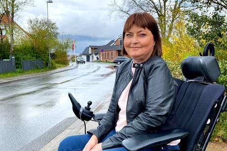 Ditte-Marie Clemmesen er udfordret af sit handicap. Det hjælper ikke, at bilister ofte opfører sig ubehageligt over for hende.