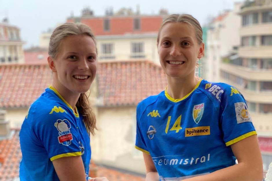 Anna og Maria Berger Wierzba udlever drømmen som professionelle håndboldspillere i Sydfrankrig.