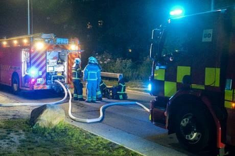 Brandvæsen og politi rykkede onsdag formiddag ud til en mindre brand i Ryparken i Skanderborg. Arkivfoto: Kenneth Meyer .