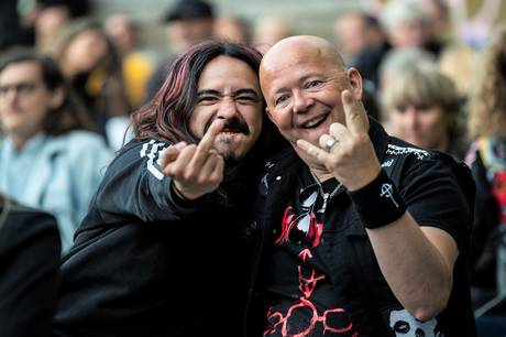 De Grimmeste Aftner er atter i fuld sving, og der afholdes koncerter hele sommeren i skyggen af de skiftende corona-restriktioner. Fredag 4. juni var metalbandet Bersærk på scenen.