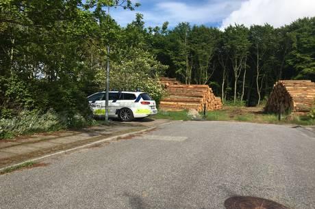 I kølvandet på arbejdet med at tynde ud i Gram  Skov er der begået hærværk mod en af skovningsmaskinerne