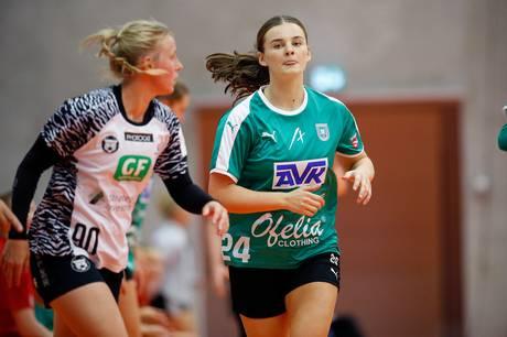 Alberte Ebler er en af tre Skanderborg-spillere, der skal til landsholdssamling. Foto. Ole Nielsen