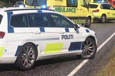Tre biler var onsdag involveret i en frontalulykke ved Silkeborg.