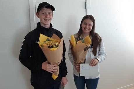 Emilie Agesen og Mathias Nordborg modtog i tirsdags en dusør fra Nordjyllands Politi for deres snarrådige indsats som vidner til et røveri.