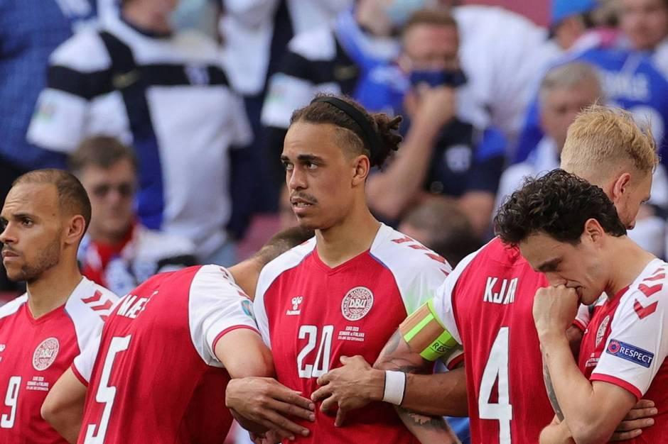 Det er første gang, at danske spillere lader sig interviewe siden den dramatiske EM-kamp mod Finland lørdag, hvor Eriksen kollapsede og modtog hjertebehandling på Parkens grønsvær.