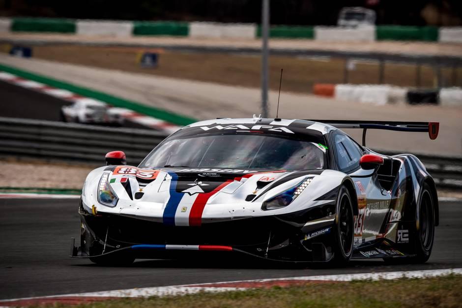 En voldsom punktering satte en stopper for Hørning-boen Nicklas Nielsen og hans team ved weekendens løb i Portugal. Foto: Ferrari Media