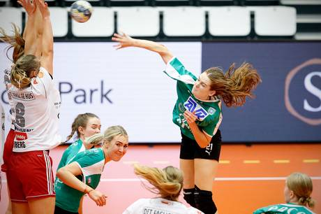 Emma Ernst fra Skanderborg Håndbold er en af tre  lokale spillere, der er med i DHFs Udviklingstrup. Foto: Ole Nielsen.