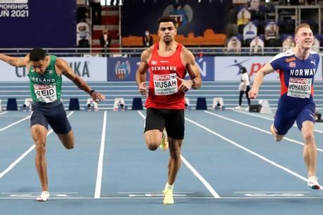 Kojo Musah er nu Danmarks hurtigste mand på 100-meter distancen. Foto: Ritzau Scanpix