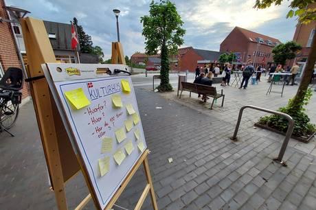 Borgerne i Hornslet inviteres til at fortælle, hvad de ønsker at bruge Hornslets kommende kulturhus til. Prfoto