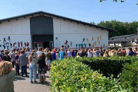 Eleverne har hjulpet med at udsmykke Østervangskolen i Hadsten