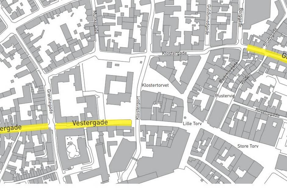Cyklister skal bremses i Vestergade og Graven.