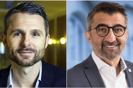 Christian Budde, borgmesterkandidat og politisk leder for Venstre i Aarhus OG Bünyamin Simsek, Venstre og Rådmand for Teknik og Miljø. pressefotos