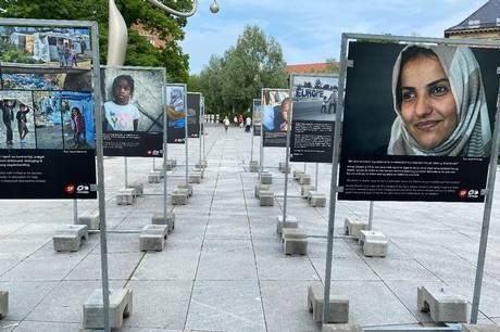 'Mennesker i Moria' er titlen på udstillingen, som handler om flygtningene på Lesbos. Prfoto