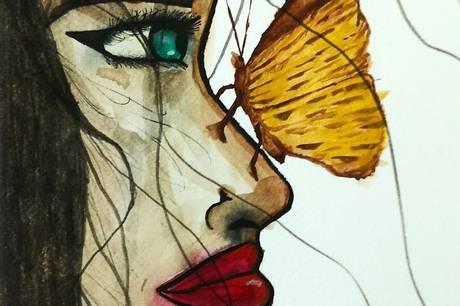 Et af Lisa Brøndbergs malerier.