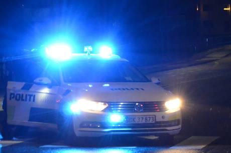 Tumult på Strandvejen i Aarhus i nat.