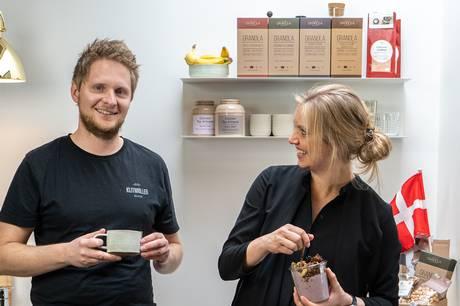 Troels Torp Jensen og Tine Bo Petersen står bag Danish Granola Company. Foto: Pressefoto