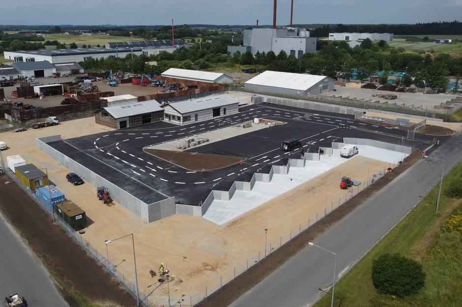 Genbrugspladsen i Hammel flytter og udvides med 3000 kvadratmeter.