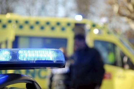 Uheldet fandt sted i en rundkørsel i Ebeltoft.