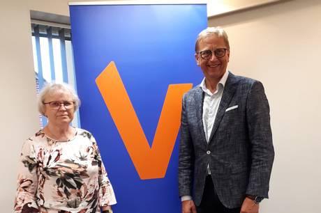 Ilsa Nielsen blev hædret på den nyligt afholdte generalforsamling i vælgerforeningen Norddjurs Vest.