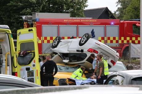 Trafikulykken skete fredag eftermiddag ved Grenåvej 25 i Egå i køreretning mod Aarhus.