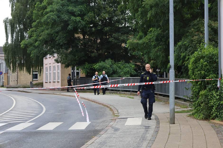 Opgør med kniv ved Simmerstedvej ved Haderslev i Sønderjylland.