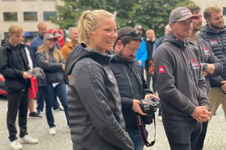 OL-guldvinderen Anne-Marie Rindom har gennem de seneste ti år boet og trænet i Aarhus. Derfor blev hun hyldet på behørig vis.