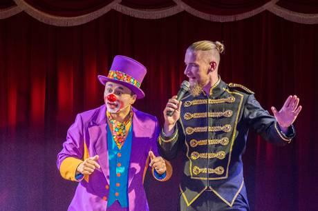 Daniel Gulio er en af de medvirkende artister i Cirkus Mascot. Pressefoto
