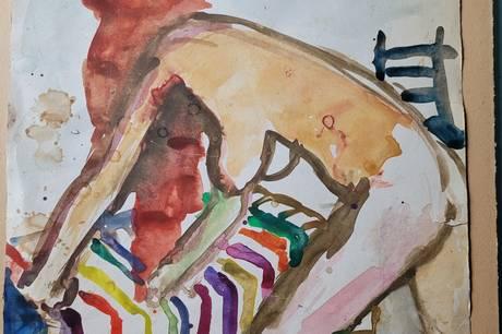 Et af Vibeke Lawaetz' malerier.