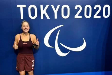 25-årige Amalie Vinther fra Aarhus Swim kæmper for medaljer ved para-OL i Japan i disse dage.