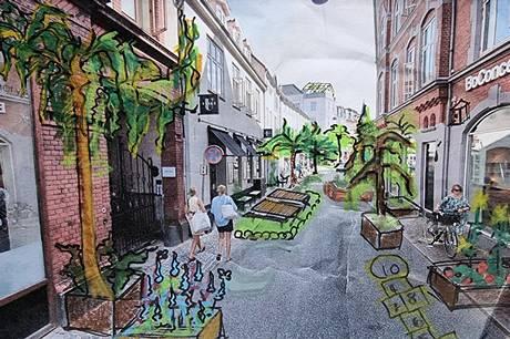Foreningen Gladere Gader har i festugen et byrum, der lægger op til socialt samvær.