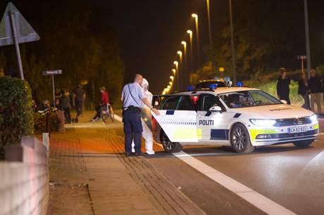 Ifølge et vidne satte en mand ild på sit eget hus i Horsens fredag aften.