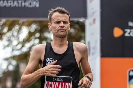 Den tidligere Ryomgård dreng var helt på toppen ved søndagens DM i halvmaraton, der blev løbet i Københavns gader.