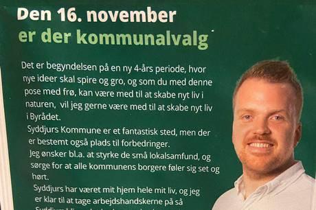 Debutanten Kasper Kolstrup Møller klar med utraditionel markedsføringskampagne med et klart politisk budskab.