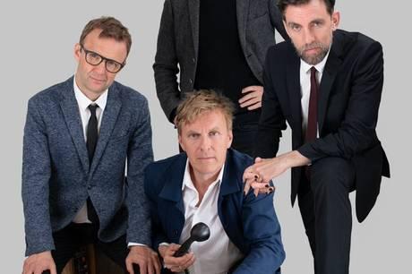 TurellOrkester med Mads Wille, der ses til højre i billedet, som stemmen i front. Foto: Lars Terkelsen