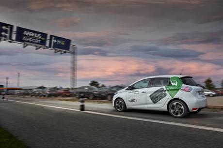 Man kan nu leje en grøn delebil på strækningen mellem Aarhus Airport i Tirstrup og Aarhus C.