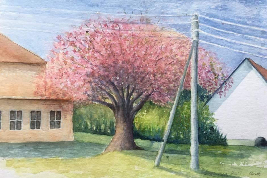 Et eksempel på en akvarel af Britt Engamo.